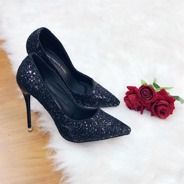 Giày cao gót kim tuyến mũi nhọn 9cm