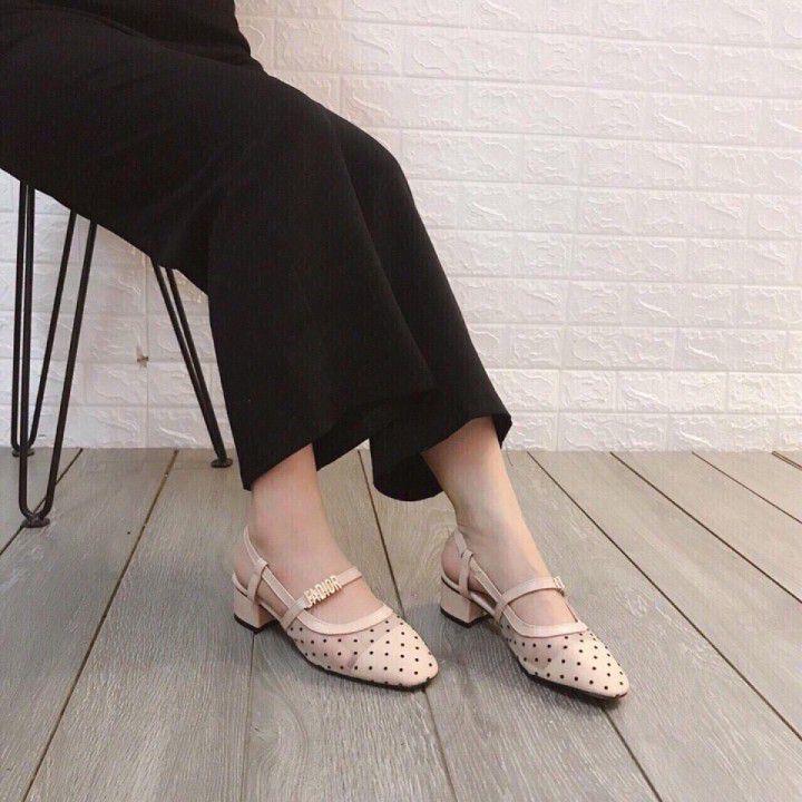 Giày gót vuông 3cm