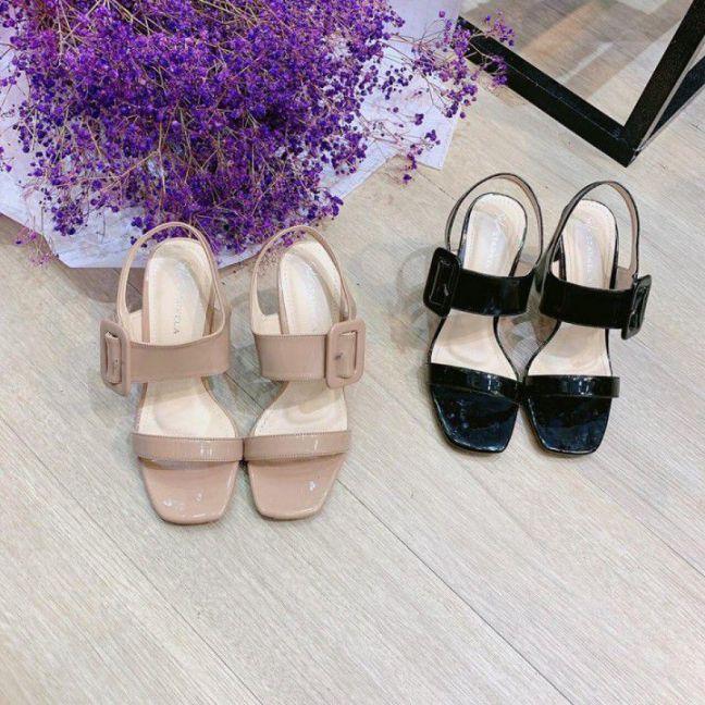Giày gót vuông 8cm