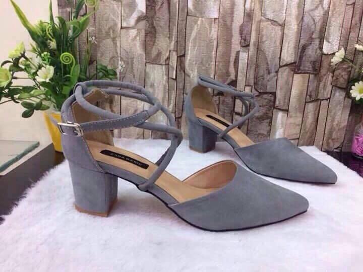 giày gót vuông 7cm