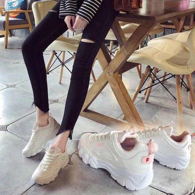 Giày thể thao nữ đế độn 2cm