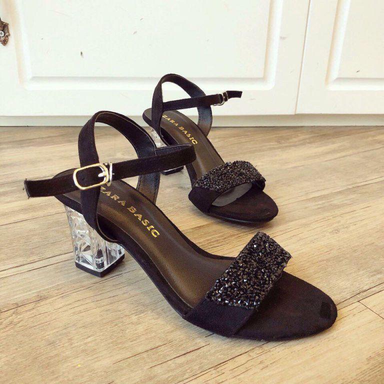 Giày gót vuông cao 5cm