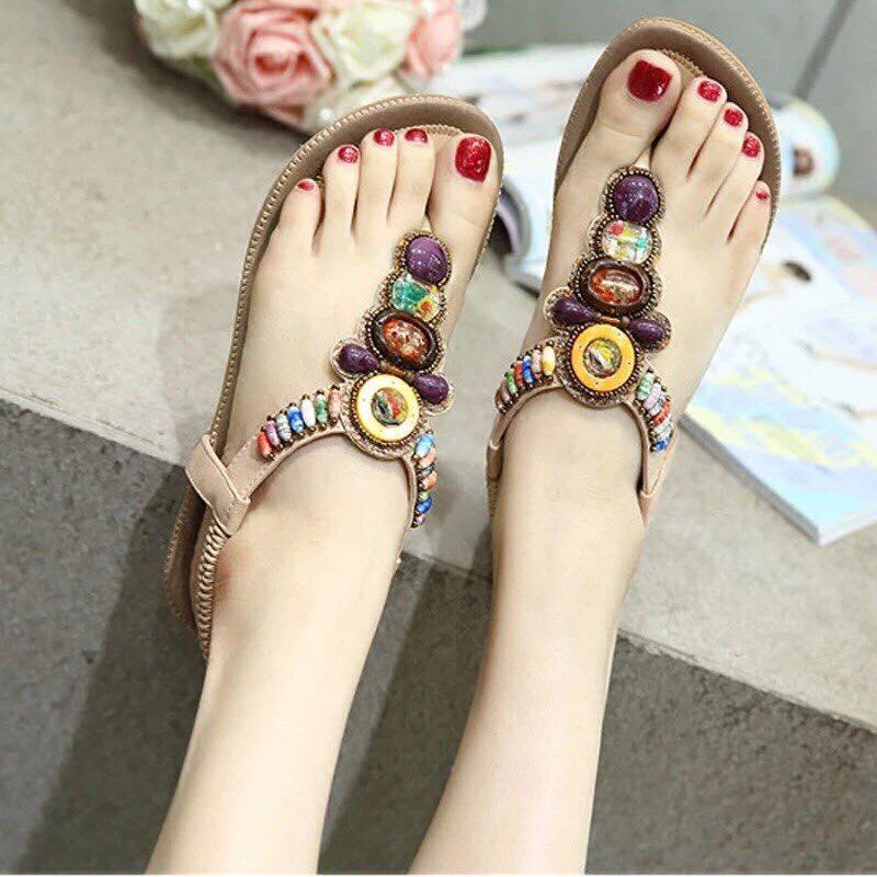 Giày sandal đính đá giá rẻ