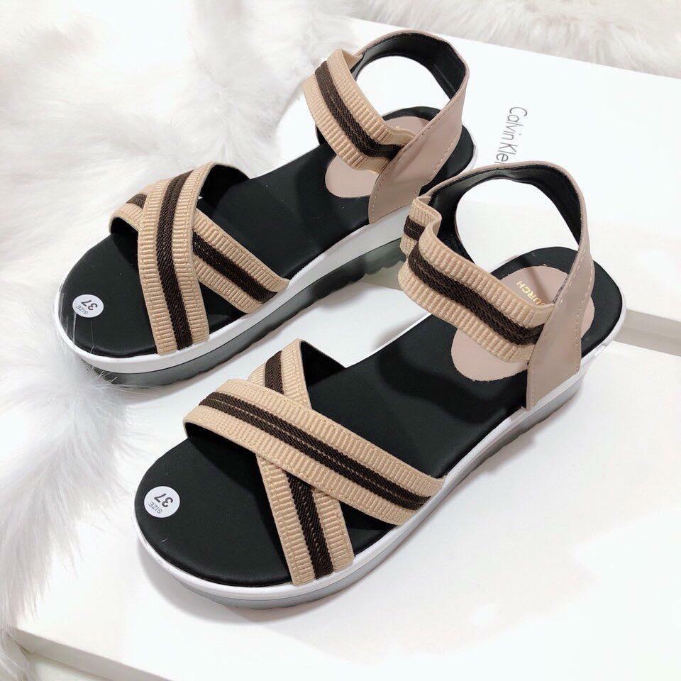 giay sandal quai cheo thun - ship hang toan quoc