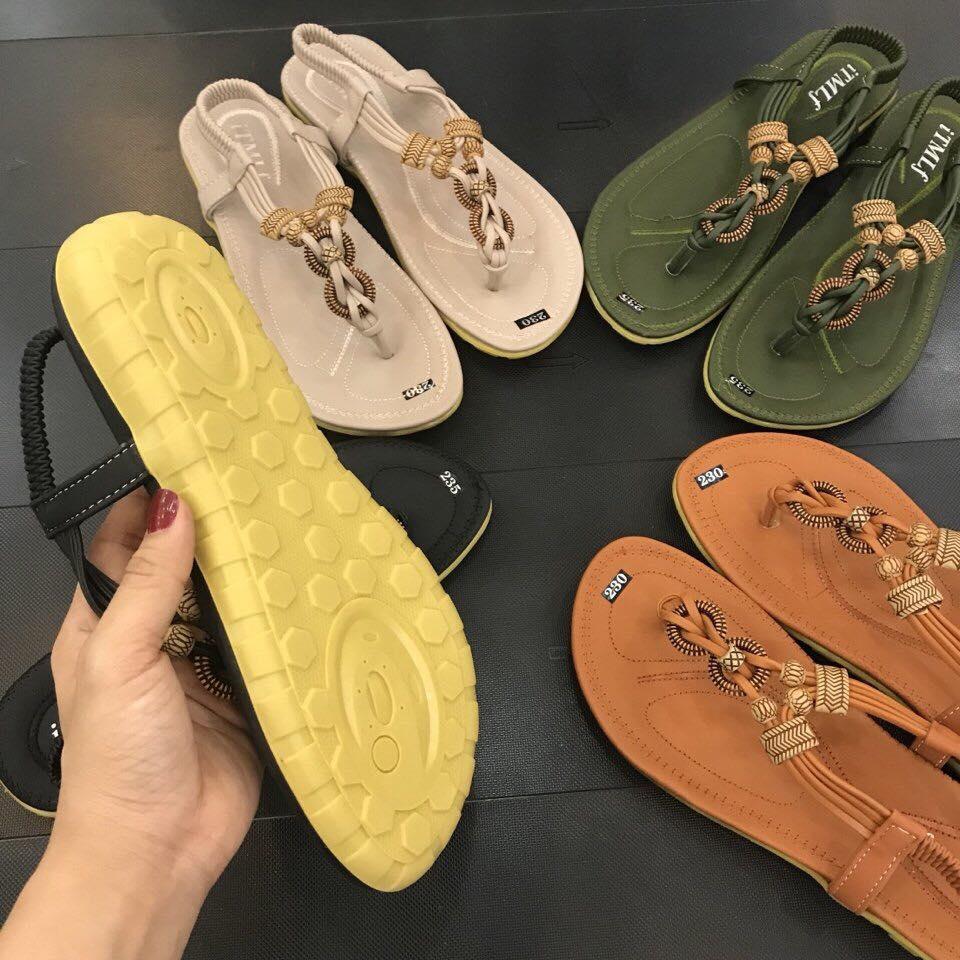 giày sandal ket hat go dep lung linh