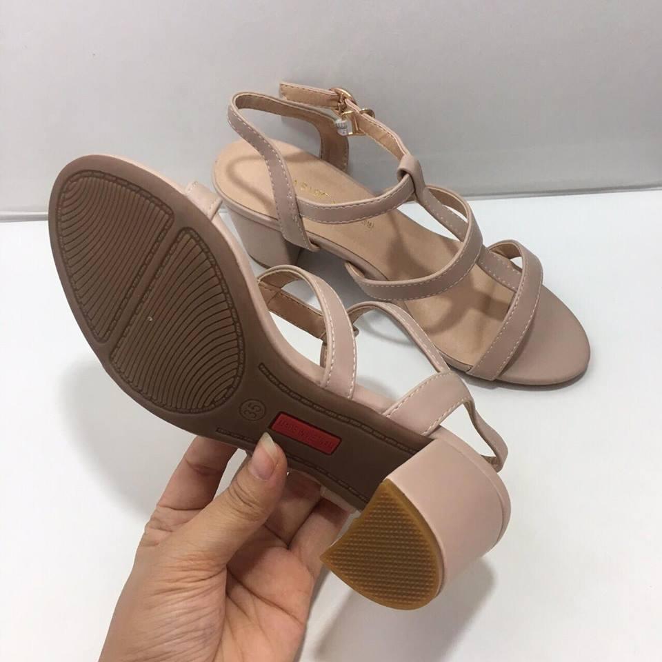giày xăng đan gót trụ 3cm