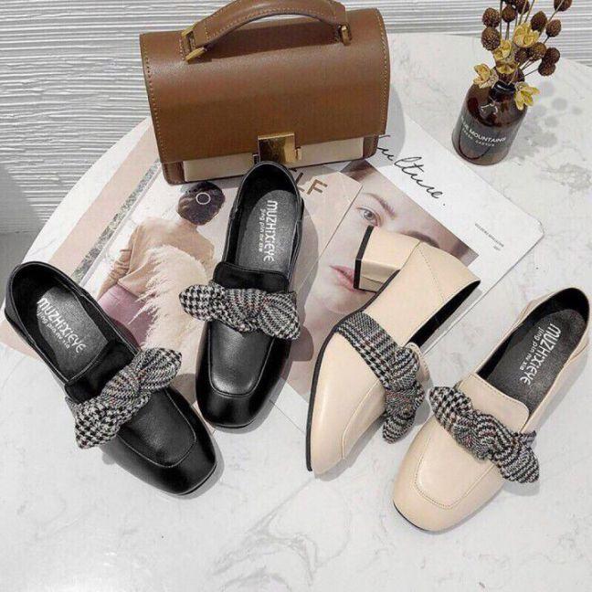 Giày Búp bê gót vuông 5cm