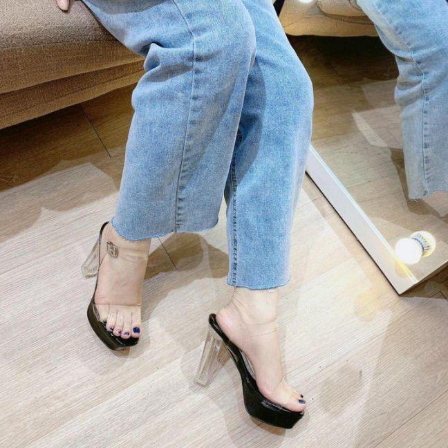 Giày cao gót trụ 10cm