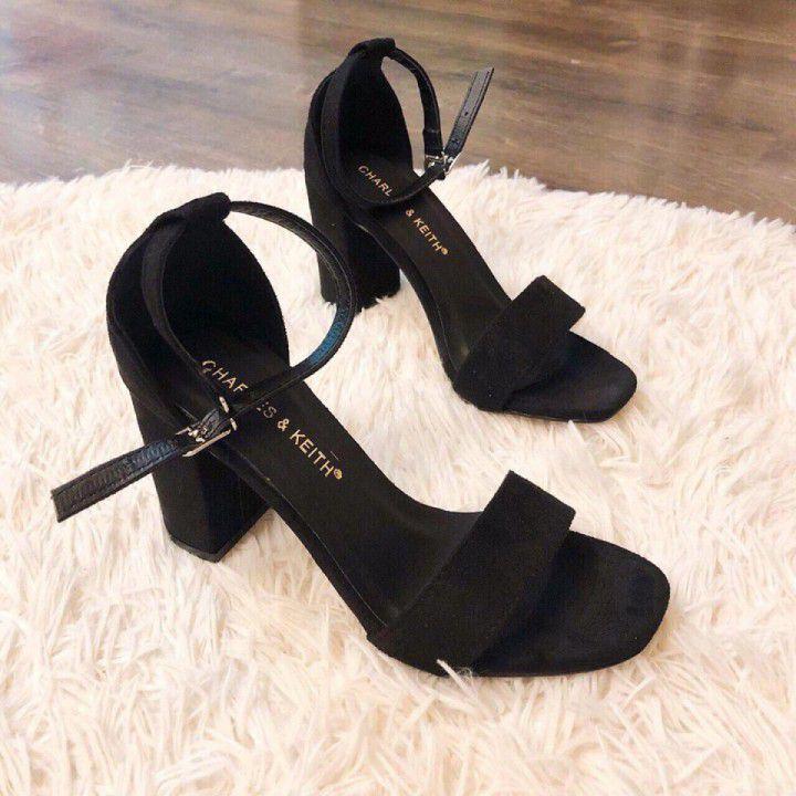 Giày cao gót trụ 7cm | đế êm -  quai mềm