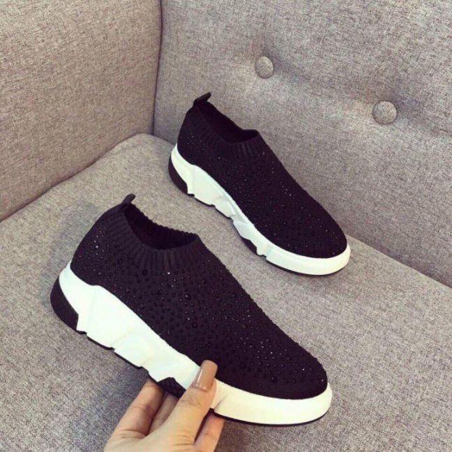 Giày Slip on Viền Sọc | Giày slipon nữ đẹp