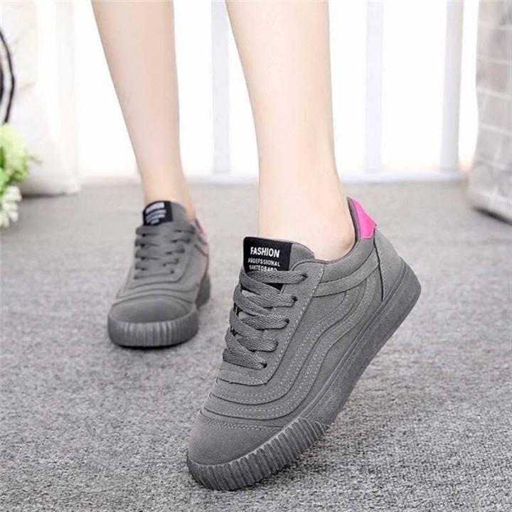 Giày thể thao đế độn 5cm | chất da xi mềm