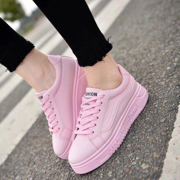 Giày Vans trắng hồng
