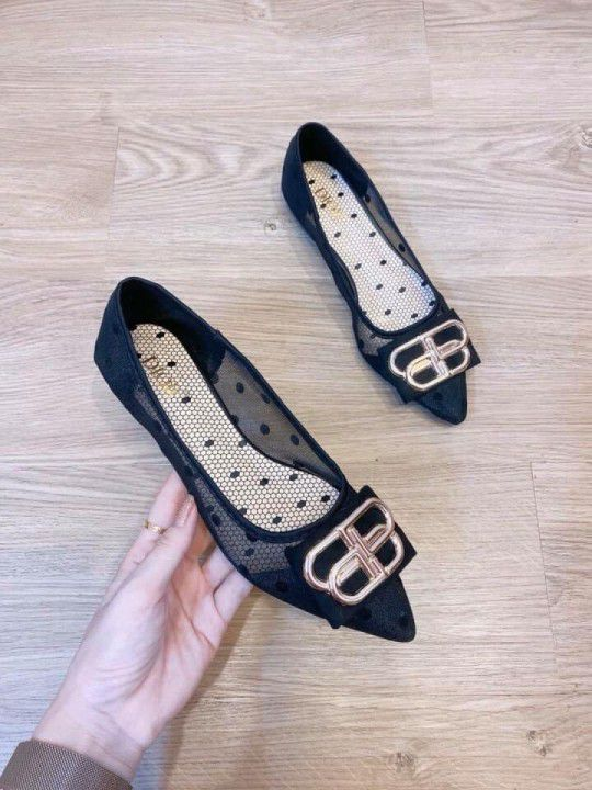 Giày Búp Bê Đẹp Nơ Xếp