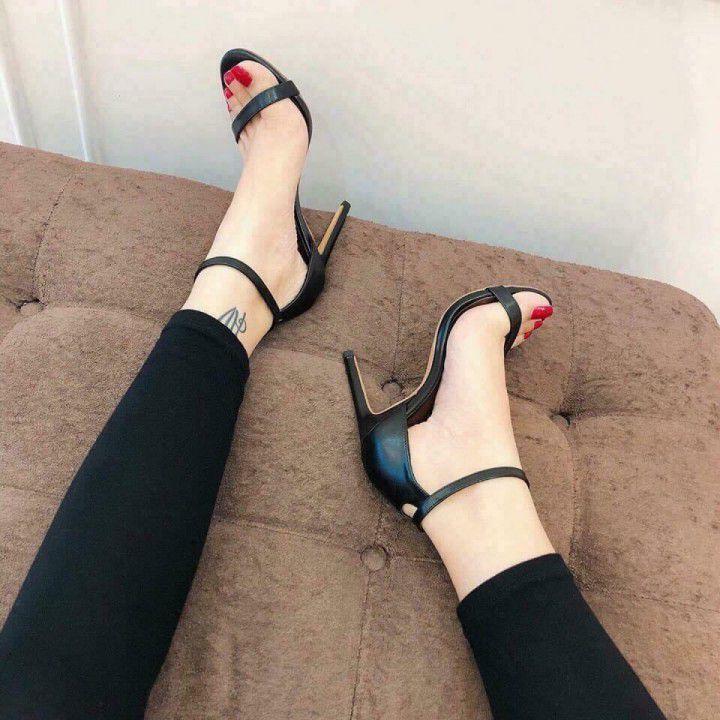 Giày cao gót quai ngang 9cm