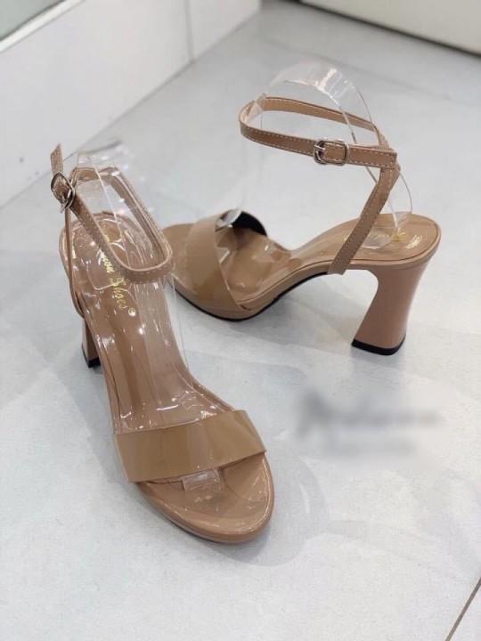 Giày gót trụ 9cm