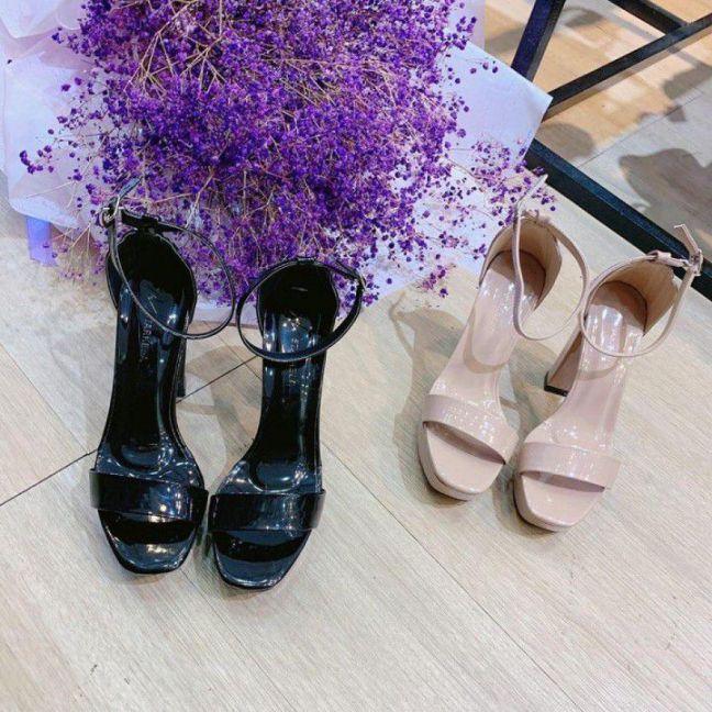 Giày gót vuông 10cm