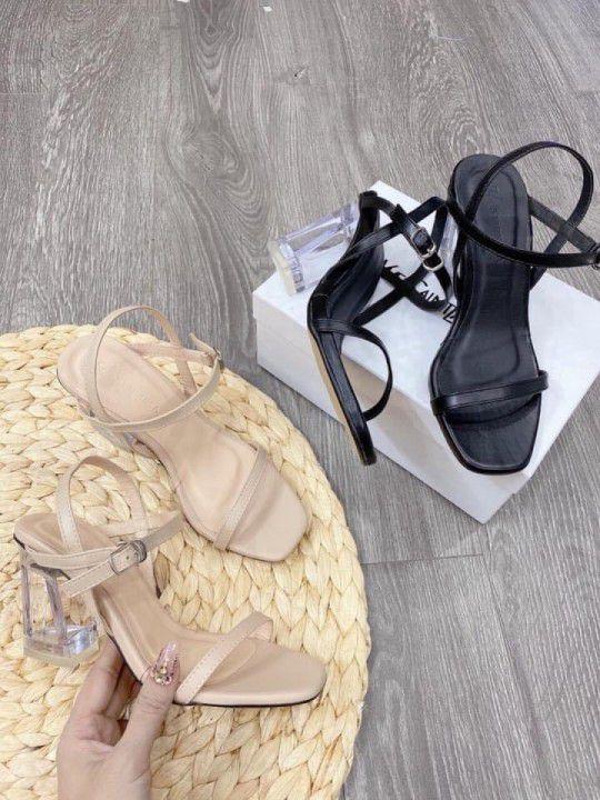Giày sandal gót vuông 7cm
